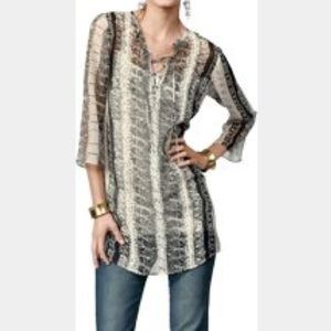 CAbi SHEER BEATNIK TUNIC TOP